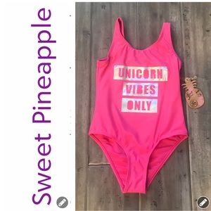 NWT Sweet Pineapple Unicorn Vibes Only Swimsuit